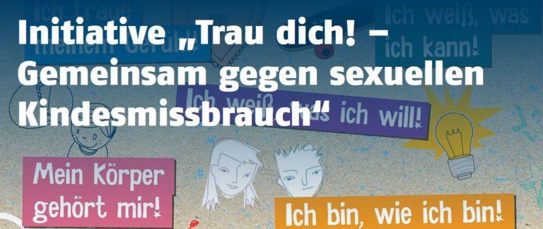 """Initiative """"Trau dich!"""" gegen sexualisierte Gewalt gegen Kinder in Sachsen-Anhalt. Der Online-Kurs ist für alle interessierten Lehrkräfte offen."""